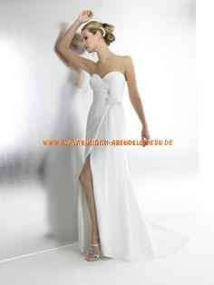 2013 bodenlang Brautmode aus Chiffon A-Linie