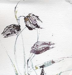 weissesrauschen:  Fritillary Watercolour & Palette Knife by skyeshell on Flickr.