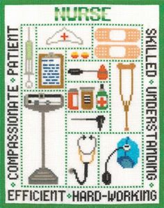 Nurse Sampler kit (cross stitch)