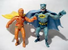 BATMAN & ROBIN vintage figures from mexico 60's toy