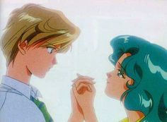 Haruka and Michiru  Even though I didn't know it at the time this couple opened my eyes to the fact that love is love no matter the gender