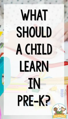 Pre-K Curriculum - Pre-K Pages