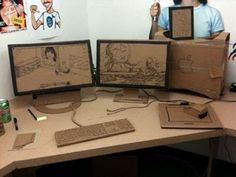 The Cardboard Office Prank is the Ultimate Workplace Joke #Office #Pranks trendhunter.com