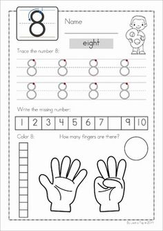 Number Concepts 1-20. A fun set of worksheets to help teach early number concepts to children in Preschool and Kindergarten.