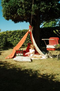 The way we used to make tents - washing line, blankets and pegs