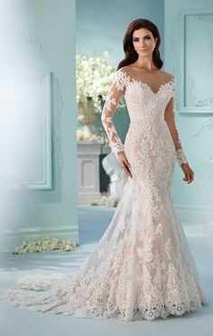 Cheap gown cocktail dress, Buy Quality dresses gown directly from China dress work Suppliers: Mermaid Long Sleeve Wedding Dresses 2016 Sexy Lace Appliques Beaded Sheer Scoop Bride Bridal Gowns Customed vestidos de noivas Spring 2017 Wedding Dresses, Wedding Dress Trends, Long Wedding Dresses, Bridal Dresses, Wedding Gowns, Lace Wedding, Wedding Ideas, Wedding Outfits, Wedding Attire