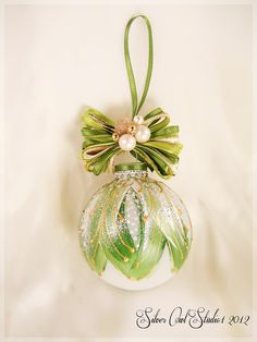 Faberge Inspired Christmas Ornament by SilverOwlStudio on Etsy, $28.00