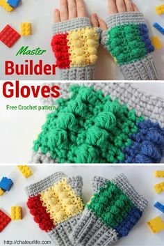 Master Builder Gloves - Free Crochet Pattern
