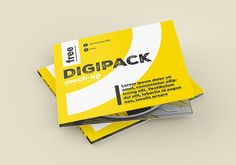Free digipack mockup Our another digipack mockup. It has more shots, it's brighter and it just looks more fun! That is why you should use our dig...