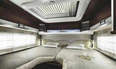 #chambre du Laika Rexosline 9009 #campingcar de luxe