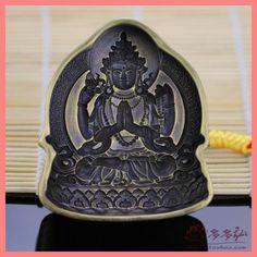 tsa tsa par Tibetan Buddhism Guanyin patron /tsa TSA four arm par/ brass crafts / religious articles for Bong collections