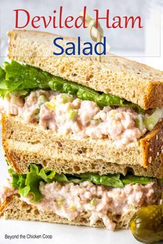 Ham Recipes, Sandwich Recipes, Salad Recipes, How To Make Sandwich, How To Make Salad, Ham Salad, Soup And Salad, Easy Meal Prep, Easy Meals