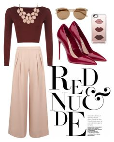 """""""~RED&NUDE~"""" by spencervandijk on Polyvore featuring Antipodium, WearAll, Miu Miu, Yves Saint Laurent and Casetify"""