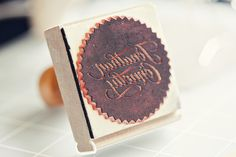 Custom stamp from Simon Stamps