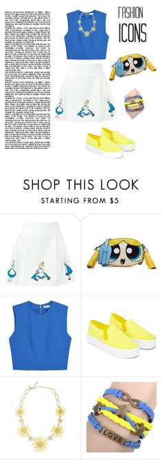 """""""Alice in Wonderland"""" by farisadea ❤ liked on Polyvore featuring Olympia Le-Tan, Moschino, Alice + Olivia, Our Family, Kate Spade and KINNO"""