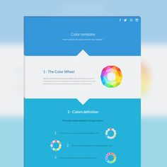 Color template - tool for designers on Behance