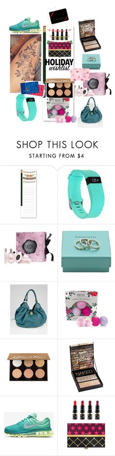 """""""My Christmas list!"""" by lovelucci ❤ liked on Polyvore featuring Fitbit, Viktor & Rolf, Tiffany & Co., Louis Vuitton, Anastasia Beverly Hills, Urban Decay, NIKE, MAC Cosmetics, Study and Victoria's Secret"""