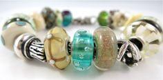 KT's Beachglass Trollbeads bracelet shows off it's amazing unique bubbles...