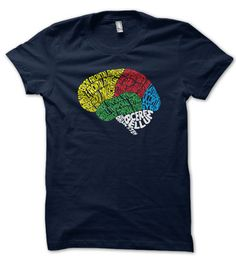 Need to learn the gyri and lobes of the brain? This awesome neuroscience shirt shows the main gyri of the lateral cerebral cortex in words. Proceeds support the MGH Pediatric Hematology-Oncology program!