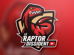 Logo – Le Raptor Dissident designed by Guilder. Logo Design Examples, Game Logo Design, Graphic Design, Typography Logo, Logo Branding, Branding Design, Hanoi, Sports Decals, Esports Logo