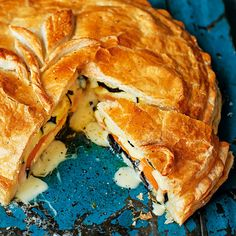 Combat cooler nights by tucking into a wonderfully warming, creamy Camembert pie. Take a look at our top collection of pie recipes over at Tesco Real Food. Camembert Recipes, Baked Camembert, Veg Pie, Vegetable Pie, Cheese And Onion Pie, Tesco Real Food, Pie Recipes, Veggie Recipes, Tray Bakes