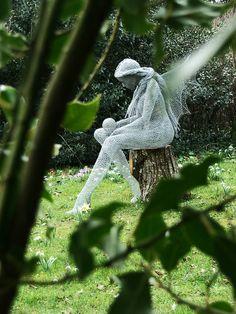 Crystal Derek Kinzett Inner Spirit solo exhibition, Lacock Abbey, Wiltshire, England, February 2012. by Derek Kinzett Wire Sculptures, via Flickr Image (c) 2012