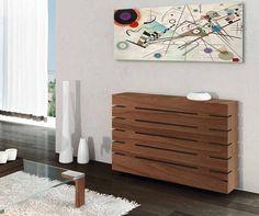 Living Room Grey, Home Living Room, Hall Furniture, Fine Furniture, Modern Radiator Cover, Home Radiators, Inspiration Wand, Famous Interior Designers, Small Room Bedroom