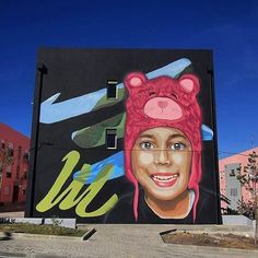 "Projecto Matilha, ""Love is my religion"" for Cara ou Coroastreetartfestival  in Setúbal, Portugal, 2017"