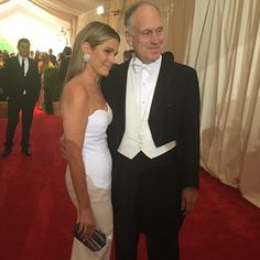 "Amy Astley on Instagram: ""Sweetest shot of the night - two great New Yorkers! Beautiful @aerin and her dapper dad Mr. Ronald Lauder on the red carpet #METGala #metball2015 her dress @michaelkors"""