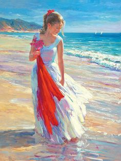 Vladimir Volegov, coastal breeze Painting... amazing brush strokes
