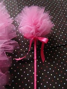 How to make a tulle puff wand by celina.neo