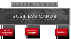 Business card help you get your contact information for people who need it. Business card printing with Axis Flyers at reasonable price.  We have over 13 year's experiences in commercial printing and help you achieve all your creative goals without breaking your budget. Read More: http://www.axisflyers.com/Business-card-printing-s/1.htm