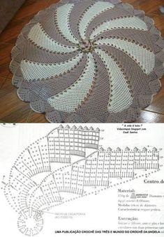 delft blue o crochet lace Crochet Doily Diagram, Crochet Mandala, Crochet Stitches Patterns, Filet Crochet, Crochet Motif, Crochet Doilies, Crochet Flowers, Knitting Patterns, Crochet Carpet