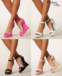 LADIES PATENT WEDGE PLATFORM HIGH HEELS ANKLE STRAPPY PEEP TOE SANDAL SHOE 3-8