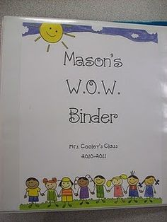 Home binders  far my favorite. Let me introduce you to...THE WOW BINDER! WOW= We Organize Work. The kids take home this binder every night, and they leave it on my small group table as soon as they walk in the door in the morning. I check through the binder for lunch money, notes from home, homework, and to see if they have completed theirreadin...