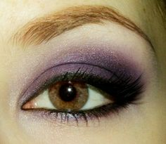 Purple eye makeup brown eyes