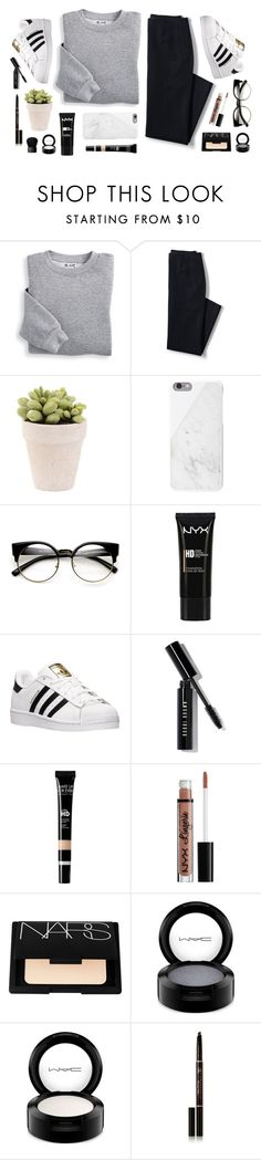 """Untitled #27"" by anandptr on Polyvore featuring Blair, Lands' End, Native Union, NYX, adidas, Bobbi Brown Cosmetics, NARS Cosmetics, MAC Cosmetics, Anastasia Beverly Hills and outfit"