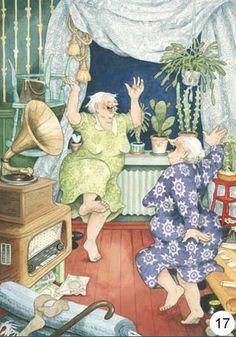 Inge Löökin suositut mummokortit saavat hymyn huulille aina uudelleen! Katso ja tilaa,  Decoprintit Oy.