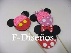 Cumple Mickey Mouse | Souvenirs Porta Chupetin Paleta De Goma Eva Mickey Mouse