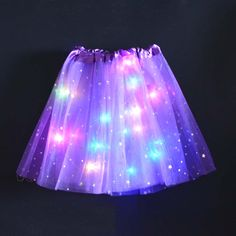 Star Ornament Princess Girls Kids LED Light Up Tulle Tutu Skirts Birthday Party Halloween Tutus For Girls, Kids Outfits Girls, 3 Year Old Girl, Best Gifts For Girls, Halloween Costumes For 3, Halloween Clothes, Purple Baby, Rainbow Light, Girl Standing