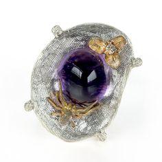 Amethyst ring, gold ring, amethyst, gemstone ring, birthday, gift for her