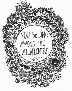 wildflowers hippie.