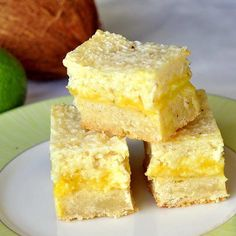Lime Coconut Shortbread Bars
