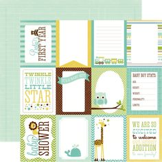 Echo+Park+-+Bundle+of+Joy+Collection+-+Boy+-+12+x+12+Double+Sided+Paper+-+Boy+Journaling+Cards+at+Scrapbook.com+$0.89