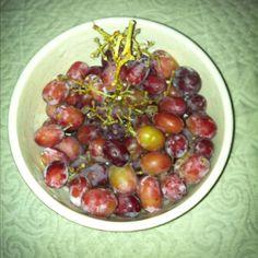 Frozen grapes, healthy snack!
