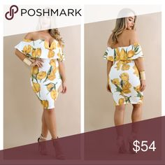 The Tiera Dress $42 on our website Please visit our website at www.DeBonairBoutiqueShop.com for lower rates because posh mark fee is included in all items listed on here! Also follow us on Instagram @DeBonair_Boutique Dresses Midi