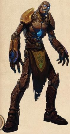 """I like this for a starting concept for a Golem used in the game """"Olen""""."""