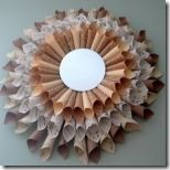 You can make utterly gorgeous decorations for your home like this Paper Ephemera Sunburst Mirror. Place a mirror in the center of the paper cones. This home decor craft is unbelieveably beautiful. Decor Crafts, Home Crafts, Diy Home Decor, Diy Crafts, Recycle Crafts, Repurpose, Mirror Crafts, Diy Mirror, Recycled Paper Crafts