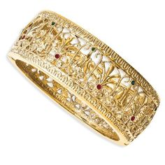 Jacqueline Kennedy Gold-plated Swarovski Crystal Burmese Bangle CT428 by Generous Gems -- Awesome products selected by Anna Churchill