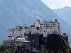 The Hohensalzburg fortress in Salzburg. Our classes were in the area to the right.
